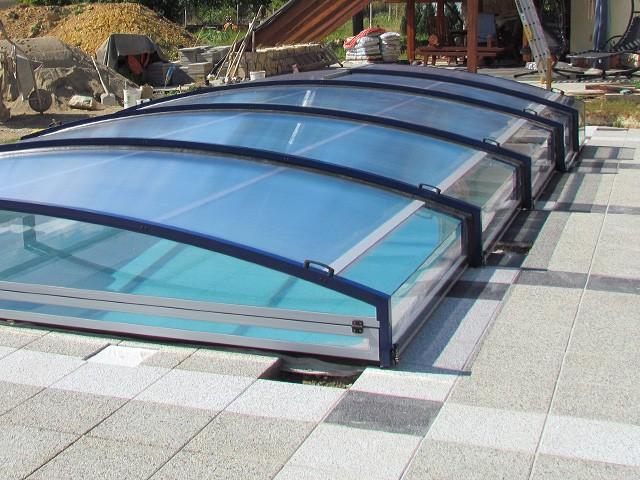 ukázka zastřešení bazénu