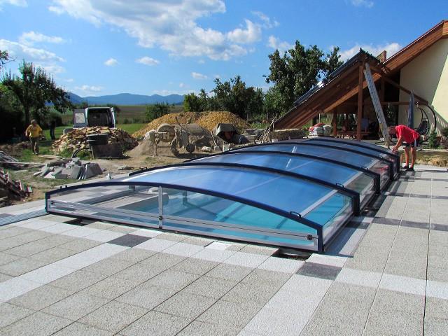 zastřešení bazénu 8x4 metru