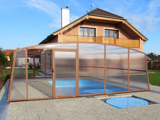 zastřešení bazénu ovál
